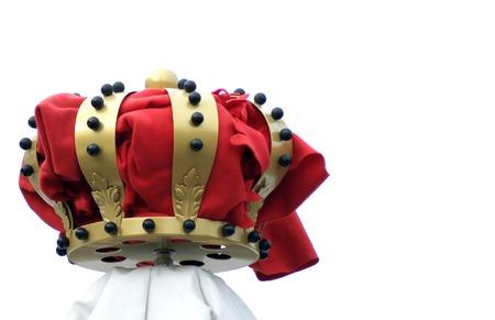 corona rey: R�plica de una corona holandesa como decoraci�n, aisladas Foto de archivo