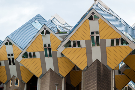 View of Rotterdams famous cube houses