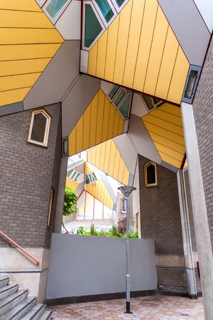 amidst Rotterdams famous cube houses