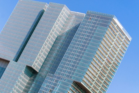 oma: Rotterdam, Netherlands - June 21st, 2014: Partial view of modern high-rise complex De Rotterdam as a concept of a vertical city