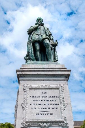 plein: The monument of William  the First, Prince of Oranje, Founding father of the Netherlands, on Het Plein - the large square in The Hague