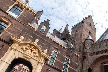 Entrance gate of the Binnenhof in The Hague, the seat of the Dutch parliament, tilted Stok Fotoğraf - 41647708