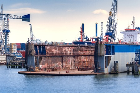 drydock: Drydock for maintenance and repair of ships in the port of Rotterdam, Netherlands