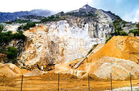 Quarry in the city of Carrara to obtain the world famous Carrara marble, Italy