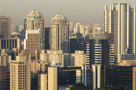 Large buildings in the city of Sao Paulo Brazil
