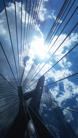 Cable-stayed bridge in Sao Paulo Brazil