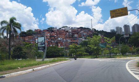 Slum in Sao Paulo Brazil Stock Photo