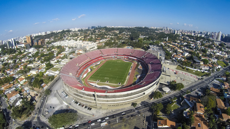 Sao Paulo Football Club, Morumbi Stadium or Cicero Pompeu Toledo Stadium. Photo taken on 04/20/2015