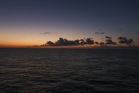 Sunrise over the oil towers and offshore oil rigs Imagens
