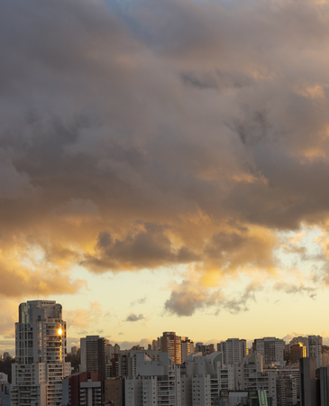 Beautiful late afternoon in the big city of Sao Paulo, Brazil
