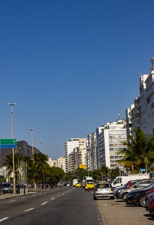 Cities with special architectures. Copacabana Beach, Rio de Janeiro Brazil South America