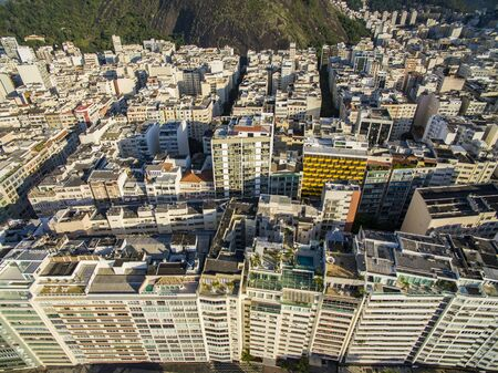 Cities with special architectures. Copacabana Beach, Rio de Janeiro Brazil South America. Banque d'images - 143082343