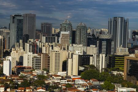 View at modern courtyard. Facade of modern building. Sao Paulo city, Brazil. Reklamní fotografie