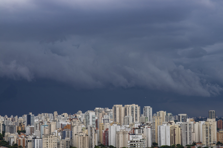 It rains very strong in the city of Sao Paulo, Brazil Reklamní fotografie