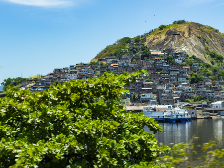 Slums of the world. Favelas of Brazil. Slum in the city of Niteroi, Penha Hill slum. Stock Photo