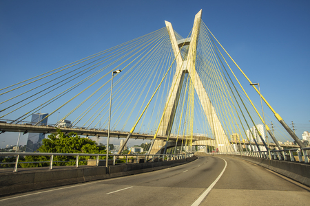 Cable-stayed bridge in the world. Sao Paulo Brazil, South America.