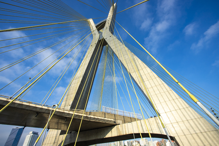 Cable stayed bridge in the world. Sao Paulo Brazil, South America.