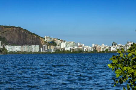 Luxury place of the lagoon. Location in Rodrigo de Freitas lagoon in Brazil, city of Rio de Janeiro. Discover the beauty of the land.