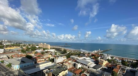 Cities of beaches in the world. The city of Fortaleza, State of Ceara Brazil South America. Stock Photo