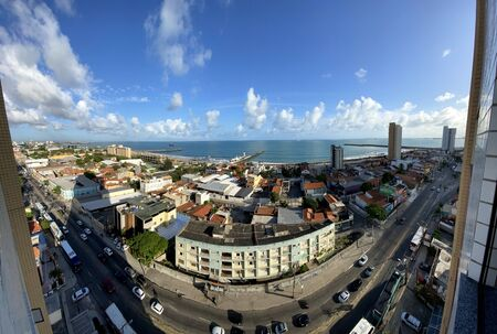 Panoramic view of beautiful cities. Fortaleza city, Ceara state of Brazil, South America.