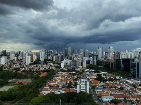 It rains in the city of Sao Paulo, Brazil. Stockfoto