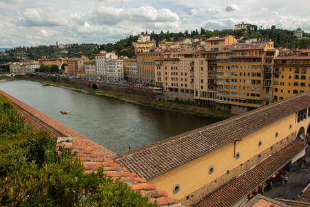 The beautiful Ponte Vecchio in Florence, Italy.
