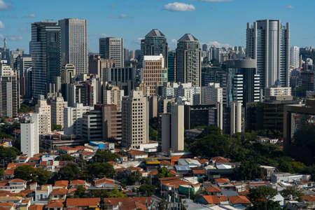 Panoramic view of the city of Sao Paulo, Brazil, South America.