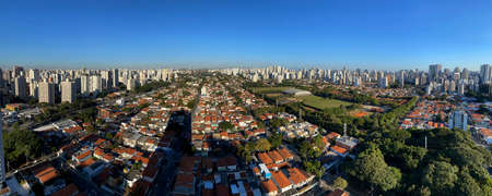 Panoramic view of the city of Sao Paulo, Brazil, South America.