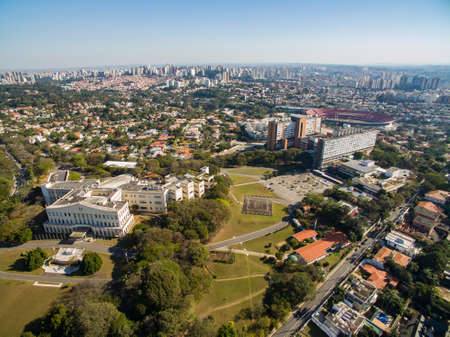 Bandeirantes Palace, Government of the State of Sao Paulo, in the Morumbi district, Brazil South America.