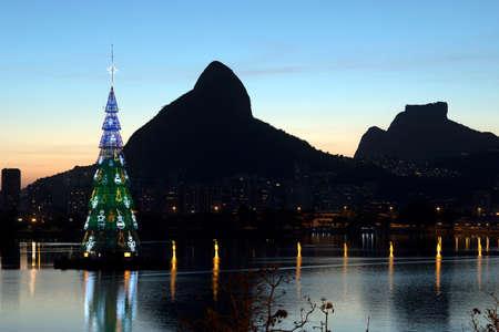 Christmas tree in the world. Rio de Janeiro city, Brazil.