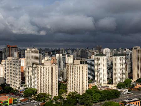 The rain is coming soon. Sao Paulo city, Brazil. Stok Fotoğraf