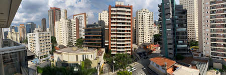 Building constructions in South America. Sao Paulo city, Brazil.