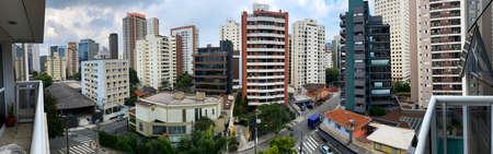Building constructions in South America. Sao Paulo city, Brazil. Stok Fotoğraf - 164467356