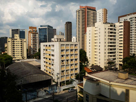 Building constructions in South America. Sao Paulo city, Brazil. Imagens - 164161296