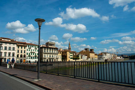Florence city, Italy. Tourist city in Europe. Imagens