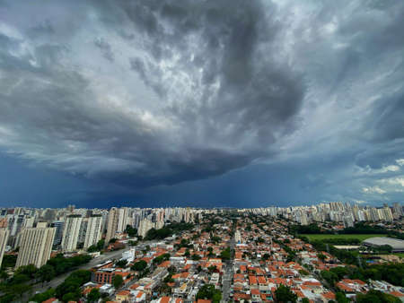 Storm in the big city. City of Sao Paulo, Brazil. South America.