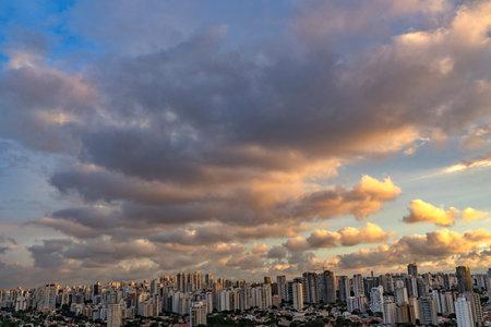 Beautiful Sao Paulo skyline sunset, Brazil, South America.