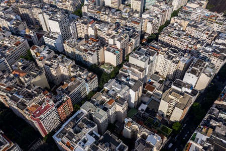 Buildings are seen from above. Copacabana neighborhood, city of Rio de Janeiro, Brazil. Imagens - 164438914