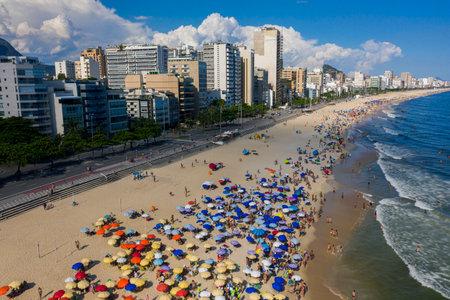City of Rio de Janeiro, Leblon and Ipanema beaches. Brazil.