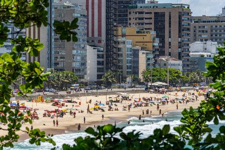 City of Rio de Janeiro, Leblon beaches. Brazil. Stok Fotoğraf - 165878203