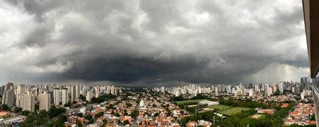 Cumulus nimbus cloud in the city.
