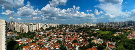 Panoramic view of the city of Sao Paulo, Brazil.