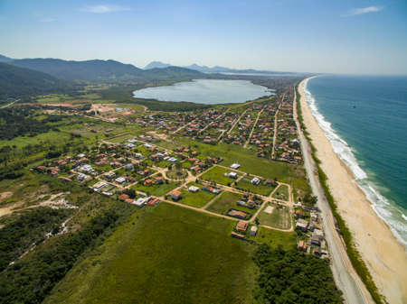 Beautiful beach in South America. Jaconé beach, Rio de Janeiro state, Brazil. Stok Fotoğraf