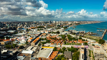 Aerial view of the city of Fortaleza. Fortaleza City, Ceará Brazil.