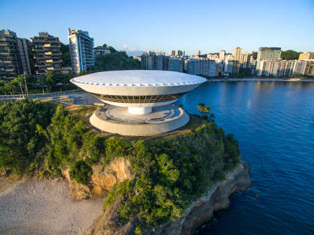 MAC - Museum of Contemporary Art of Niterói in the state of Rio de Janeiro. Brazil.