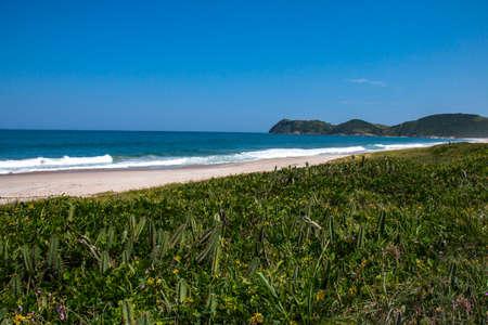 Beautiful beach in South America. Jaconé beach, Rio de Janeiro state, Brazil. Stockfoto