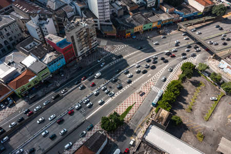 City of Sao Paulo, Brazil. Avenue and traffic in Sao Paulo.