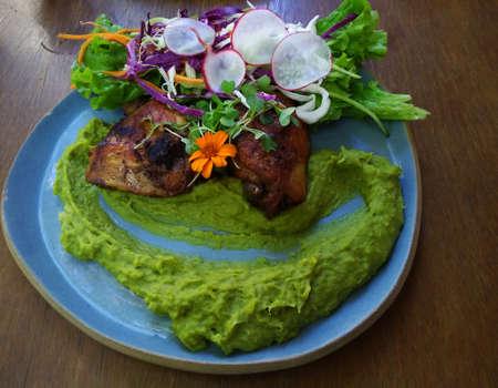Beautiful gourmet dish. Healthy food. Stockfoto