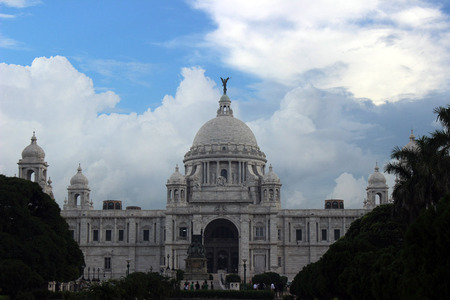 Victoria Memorial Hall of Kolkata was built in the period of British Rule Stock Photo - 81824130