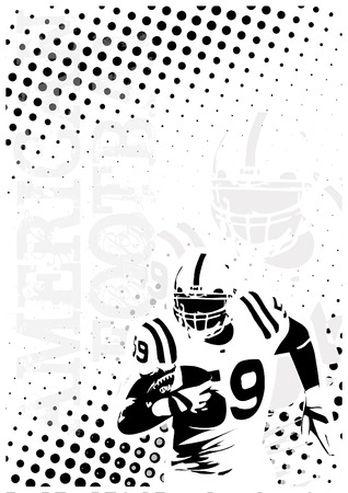 american football dots poster background Illustration